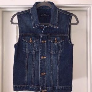 Vintage Earl Jean Denim Vest In Sz S